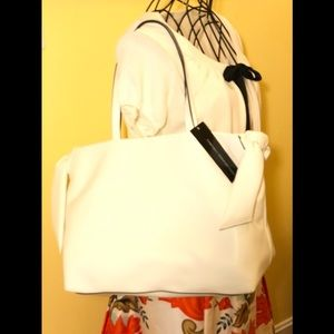 French connection white tote bag NWT
